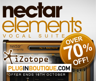 Izotope Nectar Elements over 70% off at Plugin Boutique
