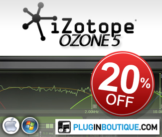 iZotope Ozone 5 20% off sale!