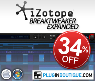iZotope BreakTweaker Expanded 34% Off Sale
