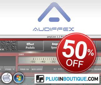 Audiffex 50% off sale at Plugin Boutique