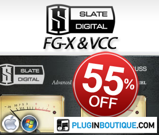 Take advantage of this Slate Digital sale whilst it lasts! FG-X and VCC currently 55% off in our store.