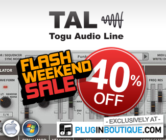 TAL Plugins 40% off exclusive Plugin Boutique sale