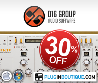 To celebrate Black Friday, we've teamed up with D16 to offer 30% off their single plugins and Classic Boxes Bundle.