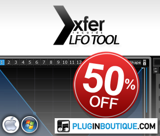 To celebrate Black Friday, we are offering Xfer Records LFO Tool for 50% off!