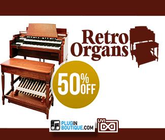 UVI Retro Organs 50% Sale