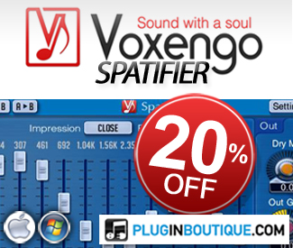 Voxengo Spatifier Introductory Sale