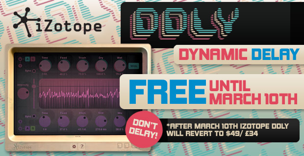 iZotope DDLY Dynamic Delay Free Until March 10th