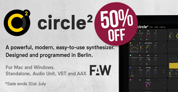 Future Audio Workshop 50% off Circle2