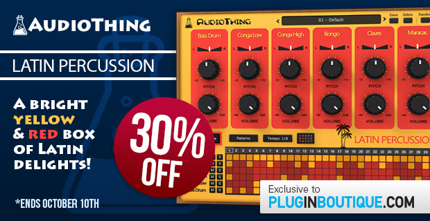 AudioThing Latin Percussion Sale: Save 30% off at Plugin Boutique