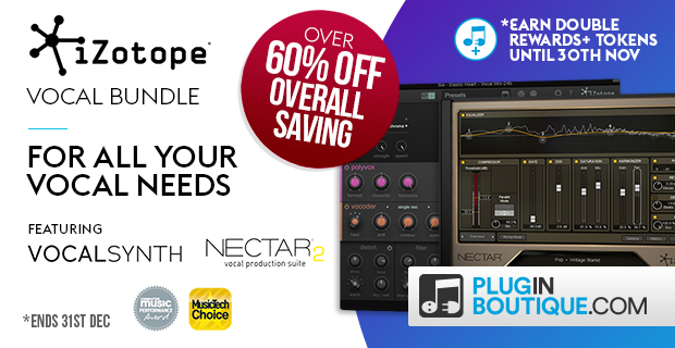 iZotope VocalBundle Sale: Save 25% off at Plugin Boutique