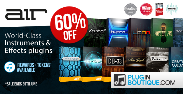 Air Music Sale: Save 50% off at Plugin Boutique