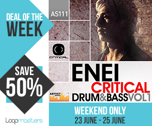 Deal of the week enei   critical drum   bass volume 1 300x250 pluginboutique