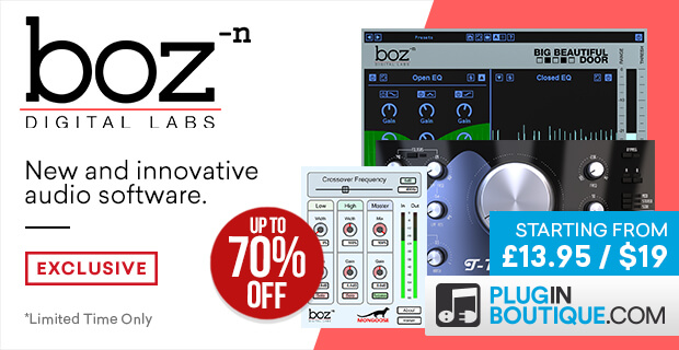 Boz Digital Labs Sale (Exclusive), save up to 70% off at Plugin Boutique