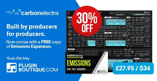 Plugin Boutique Carbon Electra + FREE Expansion, save 30% off at Plugin Boutique