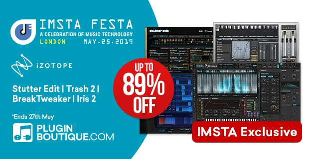 iZotope Sale, save up to 89% off at Plugin Boutique