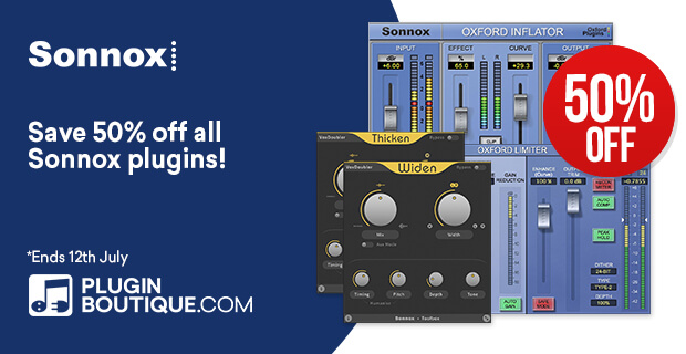 Sonnox Summer Sale, save 50% off at Plugin Boutique