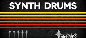 Synth drums banner rectangle pluginboutique